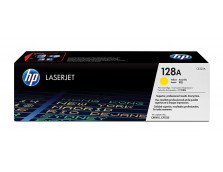 HP 128A YELLOW TONER 1,300 PAGE YIELD FOR CLJ PRO CP1525, CM1415